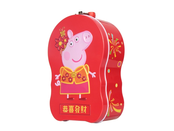 PEPPA TIN BOX COIN BANK